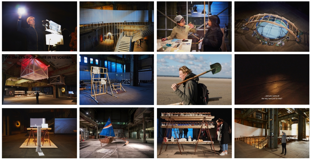 Images: Overview of Climate as Artifact, curated by Satellietgroep at Elektriciteitsfabriek, The Hague (2018). Photos: Johan Nieuwenhuize, Florian Braakman.