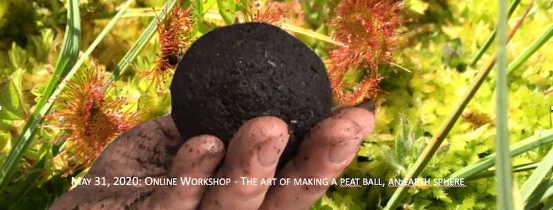 Inhale. Exhale. The art of making a peat ball, an earth sphere.