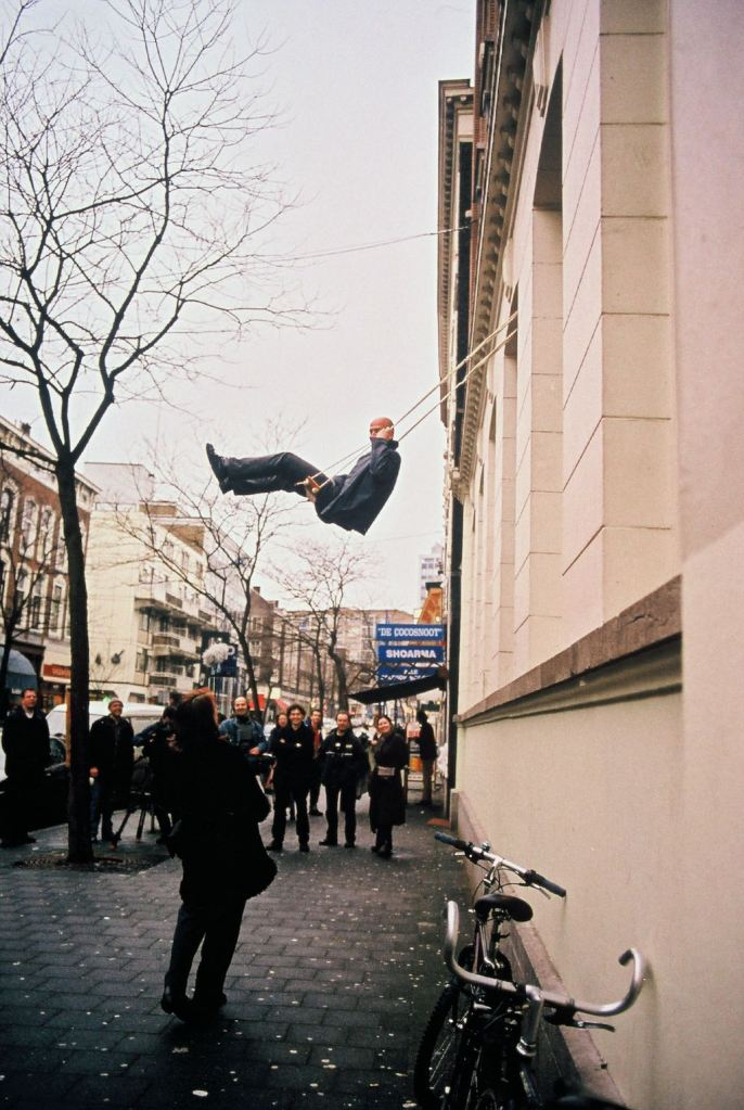 art as public space, 1996 - ongoing schommel, swing, TENT, Witte de Withstraat, Rotterdam 2001